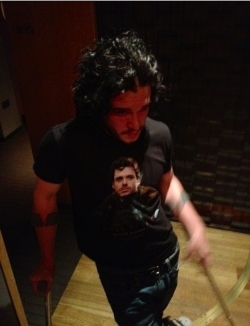 Even Jon Snow rocks wolf tees